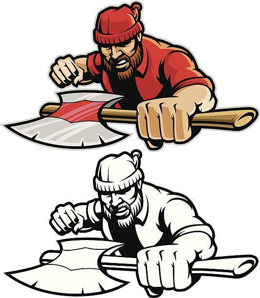 Lumberjack Charge vector art illustration