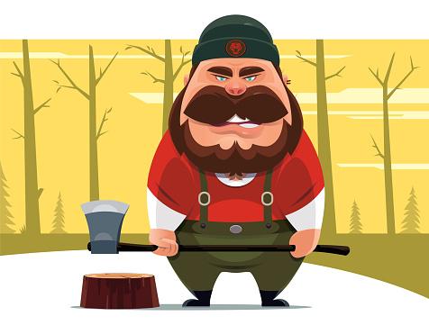 lumberjack holding axe