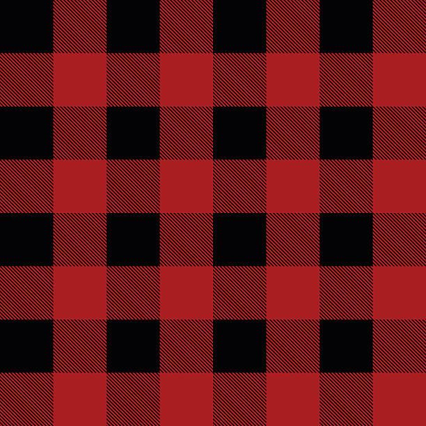Bûcheron motif écossais illustration vectorielle - Illustration vectorielle