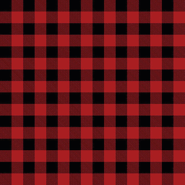 lumberjack plaid pattern vector illustration - flannel backgrounds stock illustrations, clip art, cartoons, & icons