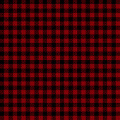 Lumberjack Seamless Pattern In Maroon And Black