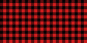 Lumberjack seamless background pattern design in red and white.