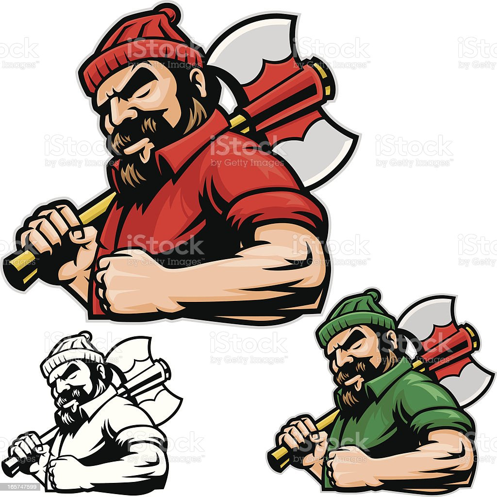 royalty free lumberjack clip art vector images illustrations istock rh istockphoto com lumberjack axe clipart lumberjack beard clipart