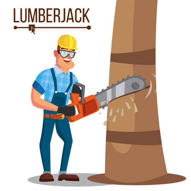 Best Lumber Jack Illustrations, Royalty-Free Vector ...