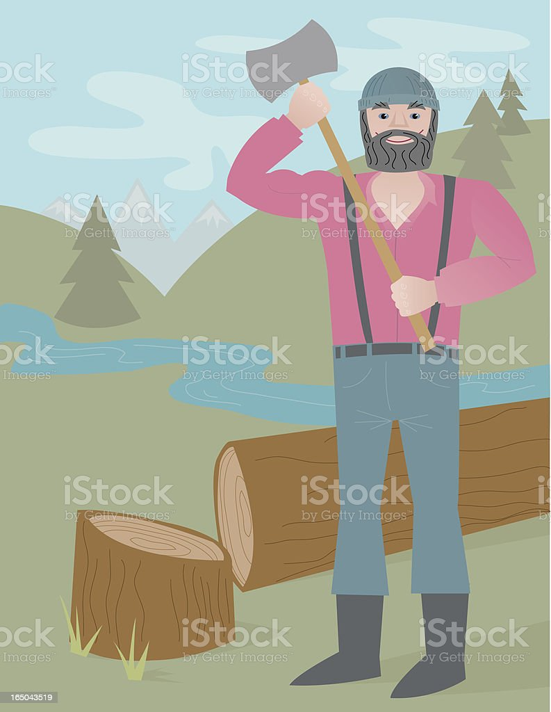 Lumberjack royalty-free stock vector art