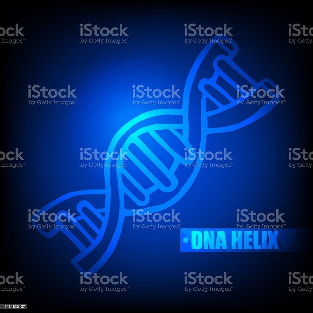 Ilustración De Adn Luminoso Hélice Icono Estructura Ciencia