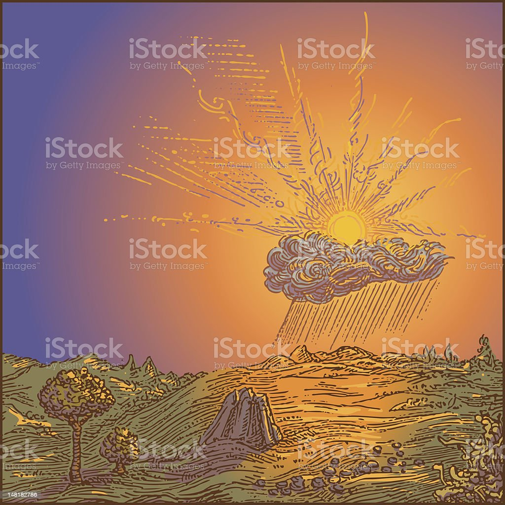 Luminous Landscape vector art illustration