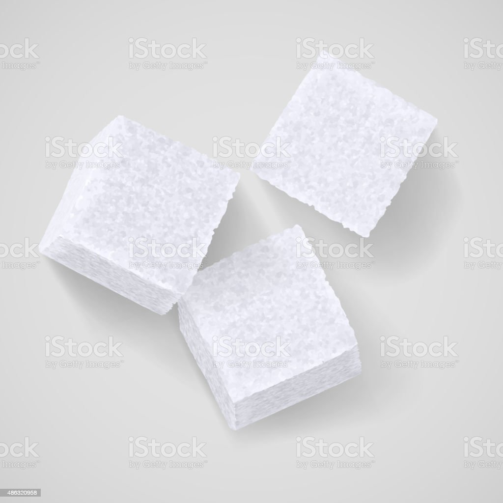 Lump sugar vector art illustration