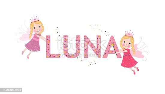 Luna female name with cute fairy tale