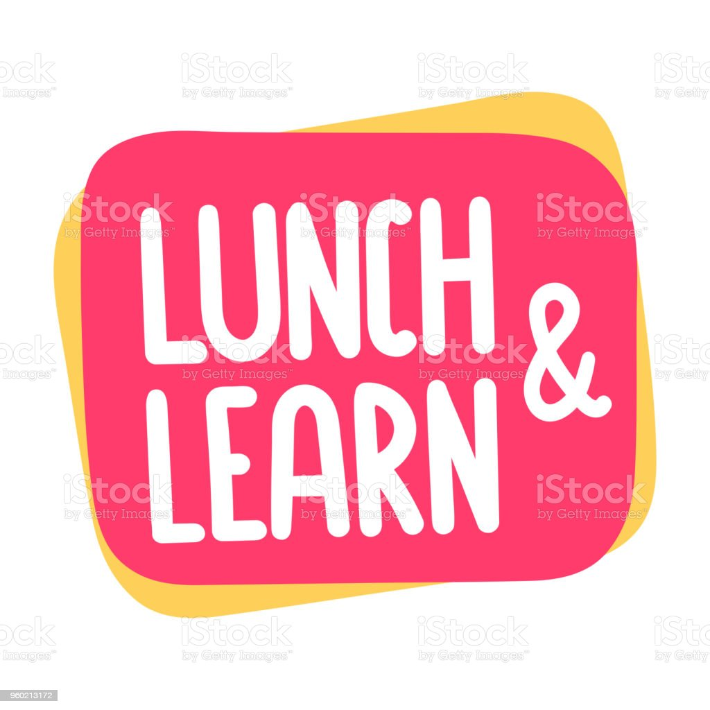 Lunch and learn. Vector illustration on white background. vector art illustration