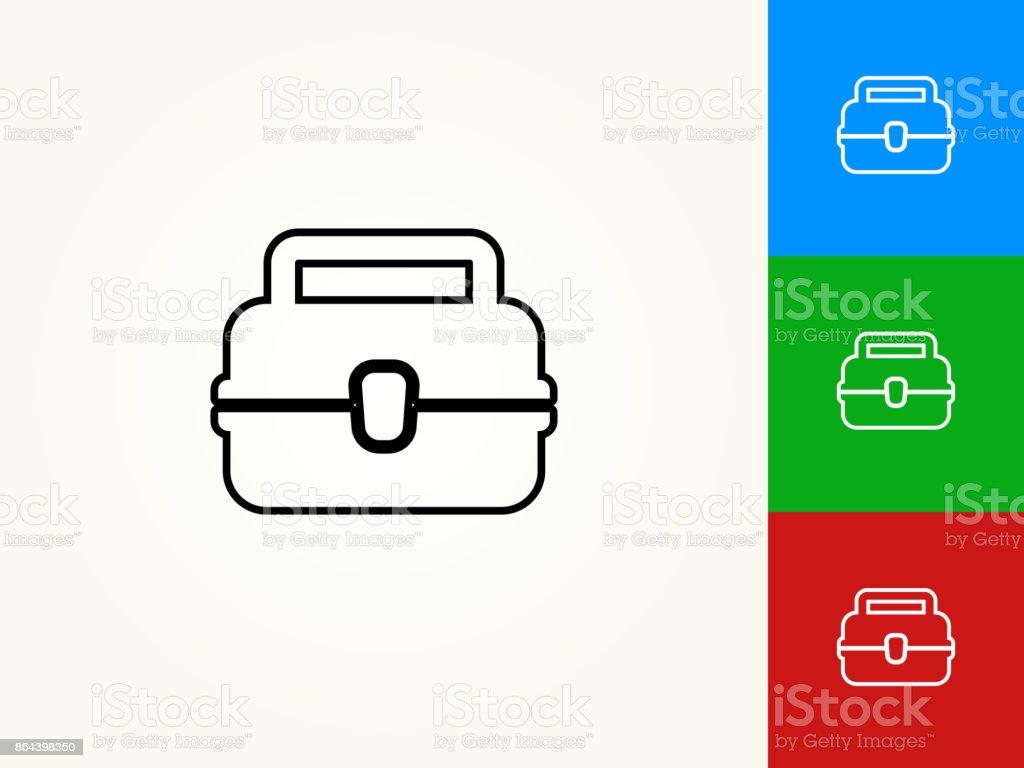 Almuerzo Box negro trazo lineal icono - ilustración de arte vectorial