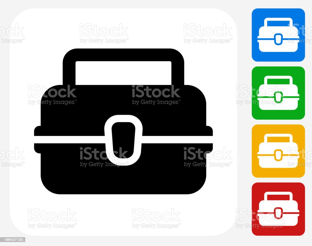 Lunch Box Icon Flat Graphic Design vector art illustration