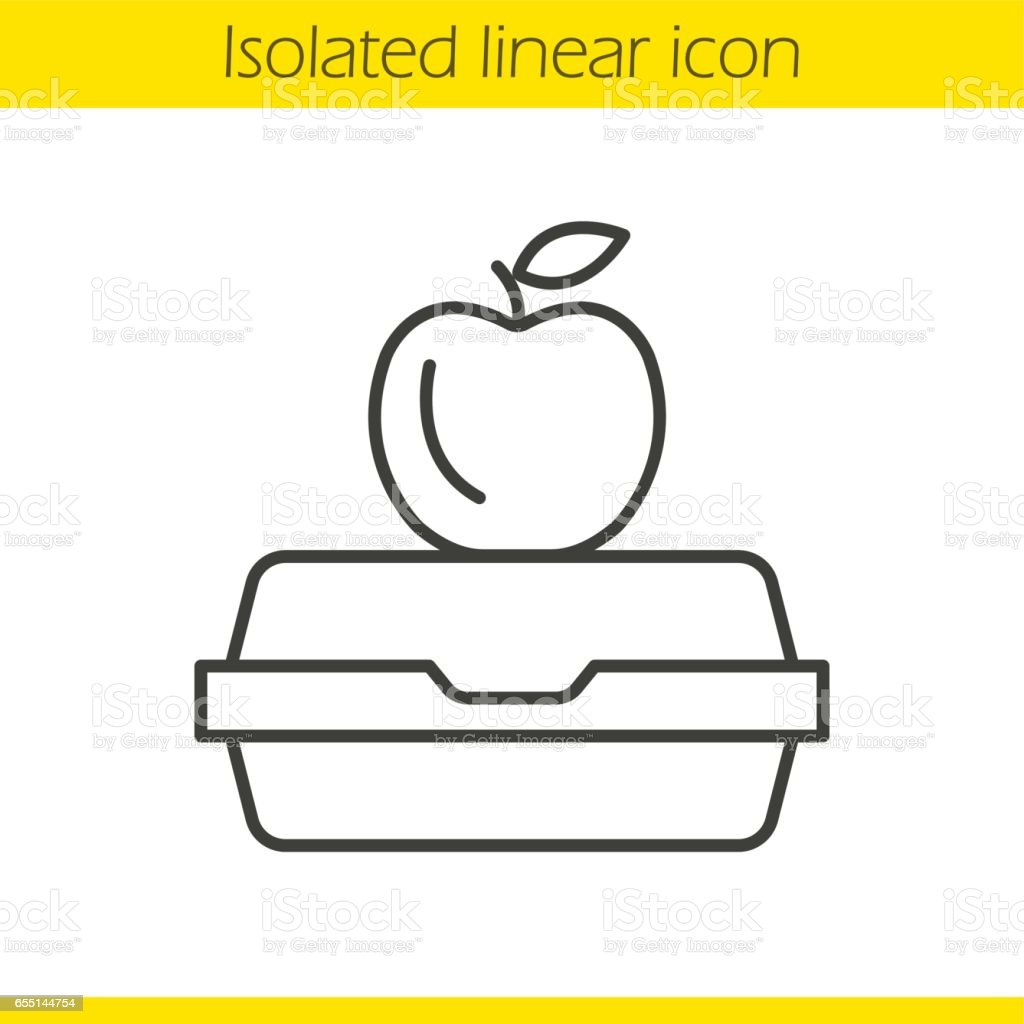 Lunch box icon vector art illustration