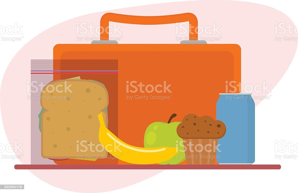 Lunch box vector art illustration