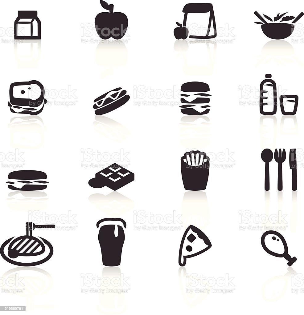 Lunch icon vector art illustration