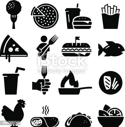 Lunch icon set. Professional vector icons for your print project or Web site. See more in this series.