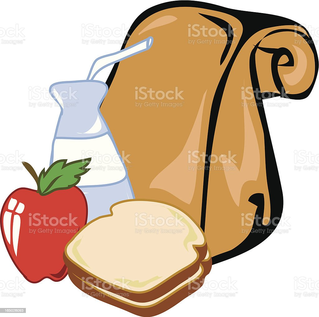 Lunch royalty-free stock vector art