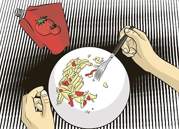 ilustraciones, imágenes clip art, dibujos animados e iconos de stock de el almuerzo  - leftovers