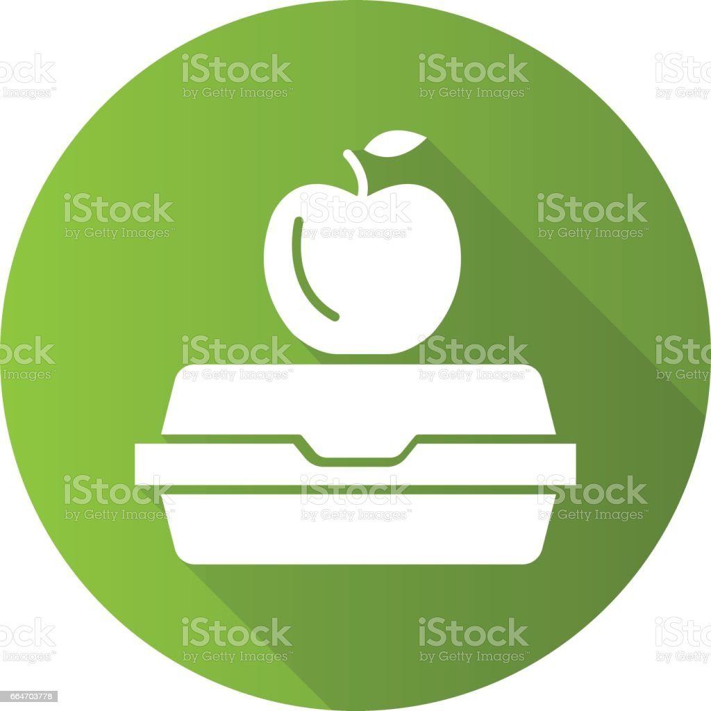 Lunchbox icon vector art illustration