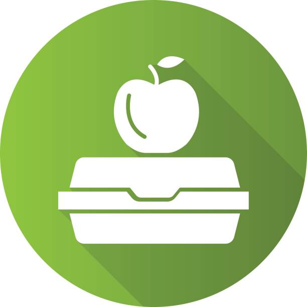 lunchbox icon - lunch box stock illustrations, clip art, cartoons, & icons