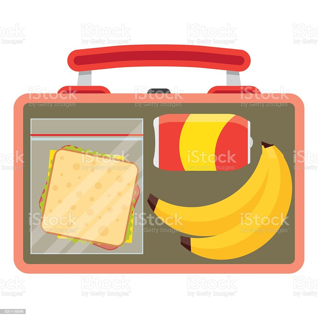 Lunchbox with school lunch