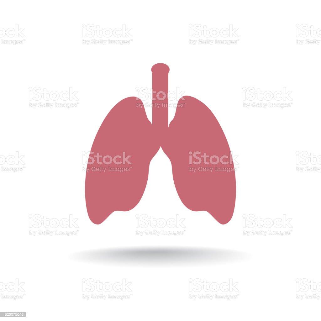 Lunge Anatomiesymbol Medizinische Menschliche Organ Zeichen Stock ...