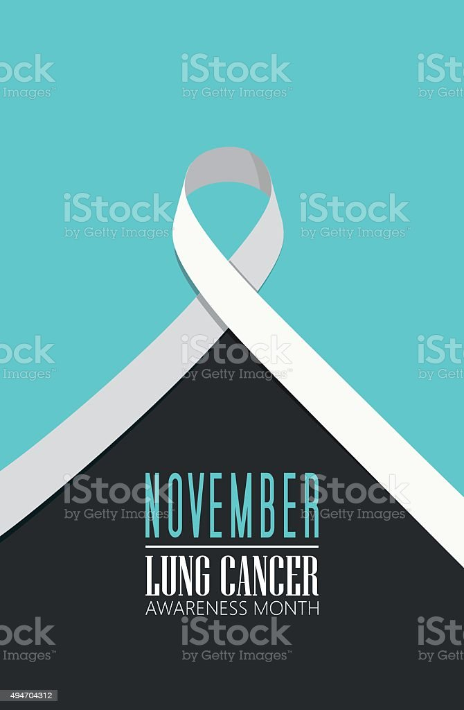 Lung cancer awareness month vector art illustration