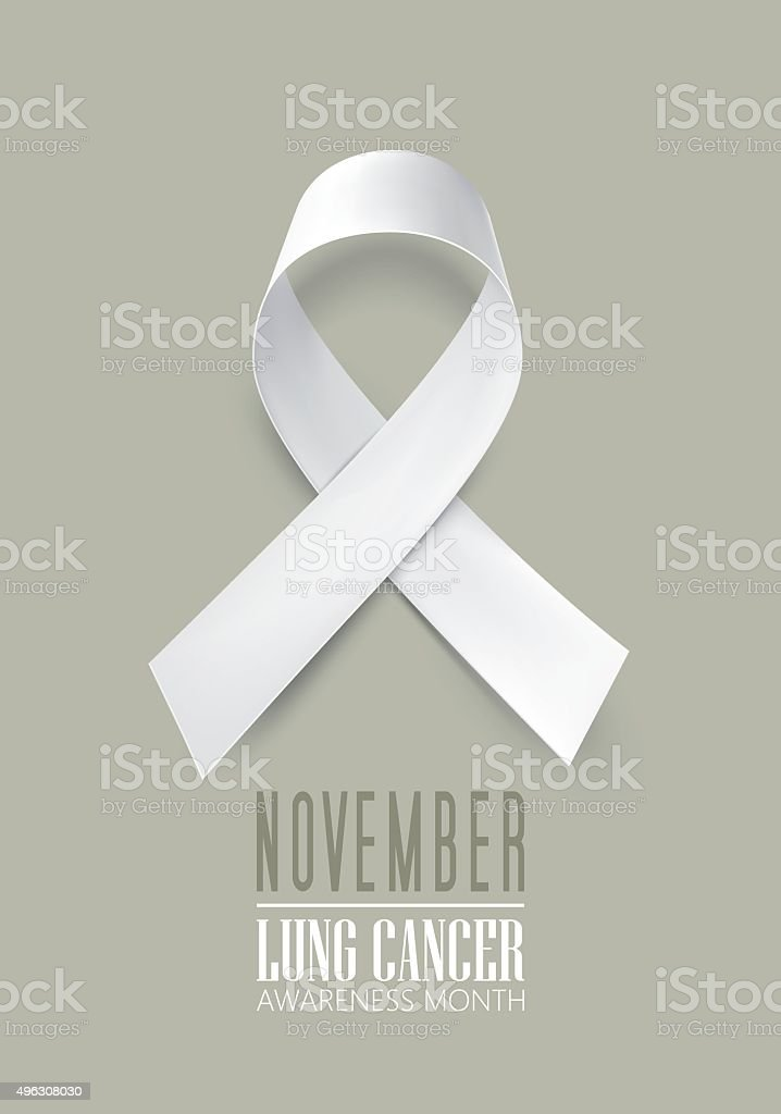 lung cancer awareness month vector art illustration