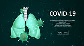 Lung infection covid-19. Sars disease, coronavirus in the lung. Viral disease epidemic outbreak. Graphic concept for your design