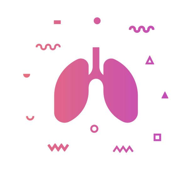 stockillustraties, clipart, cartoons en iconen met long vector pictogram lijn illustratie - longen