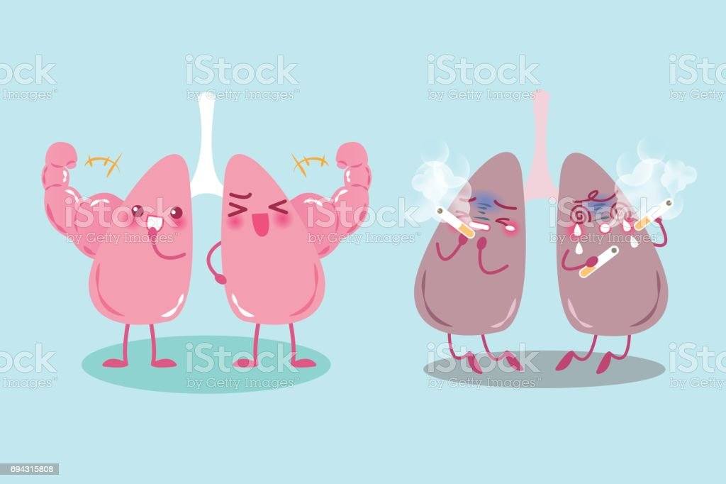 Lung With Health Problem Stock Vector Art More Images Of Anatomy