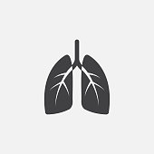 istock Lungs glyph icon. Monochrome style design simple element. Black color lungs icon for web and mobile. Healthcare collection 1168145788