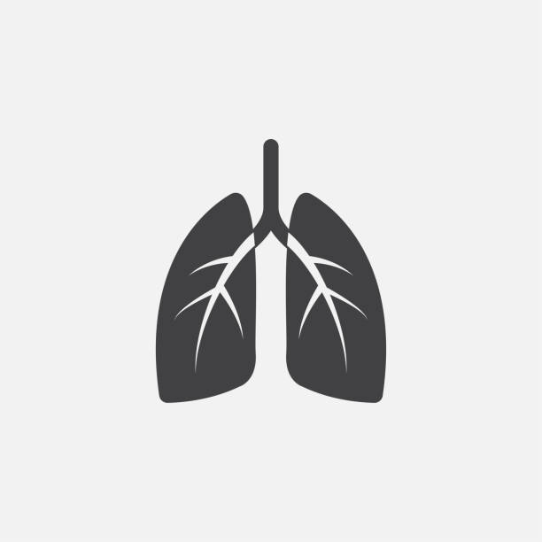 Lungs glyph icon. Monochrome style design simple element. Black color lungs icon for web and mobile. Healthcare collection Lungs glyph icon. Monochrome style design simple element. Black color lungs icon for web and mobile. Healthcare collection. lung stock illustrations