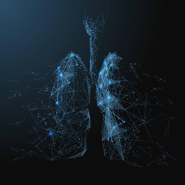 lungen-low-Poly blau – Vektorgrafik