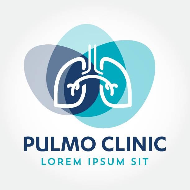 stockillustraties, clipart, cartoons en iconen met longen medisch diagnostisch centrum vector logo pulmonale, pulmonologie, pulmo icon sjabloon - longen