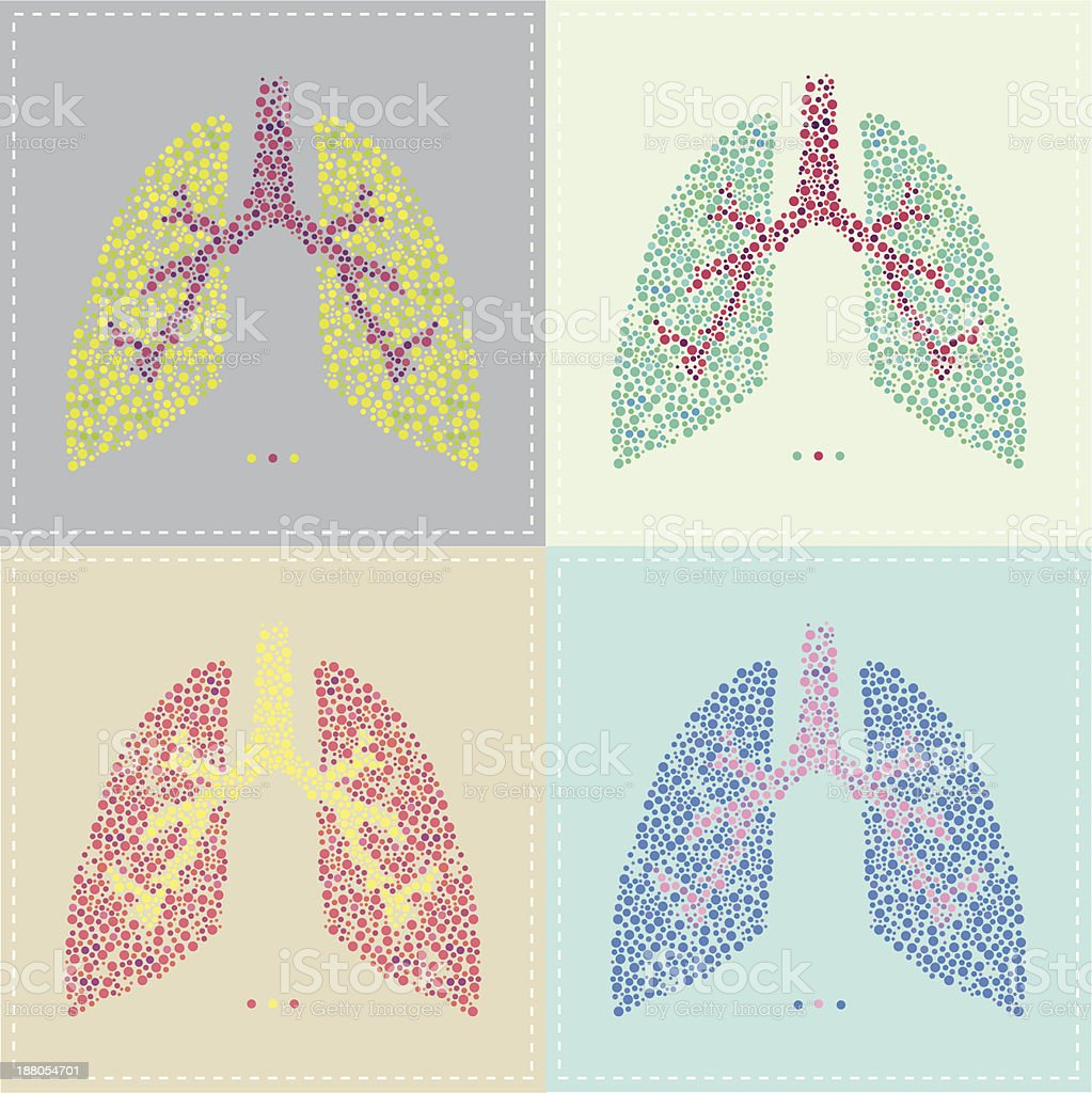 Lungs Pattern vector art illustration