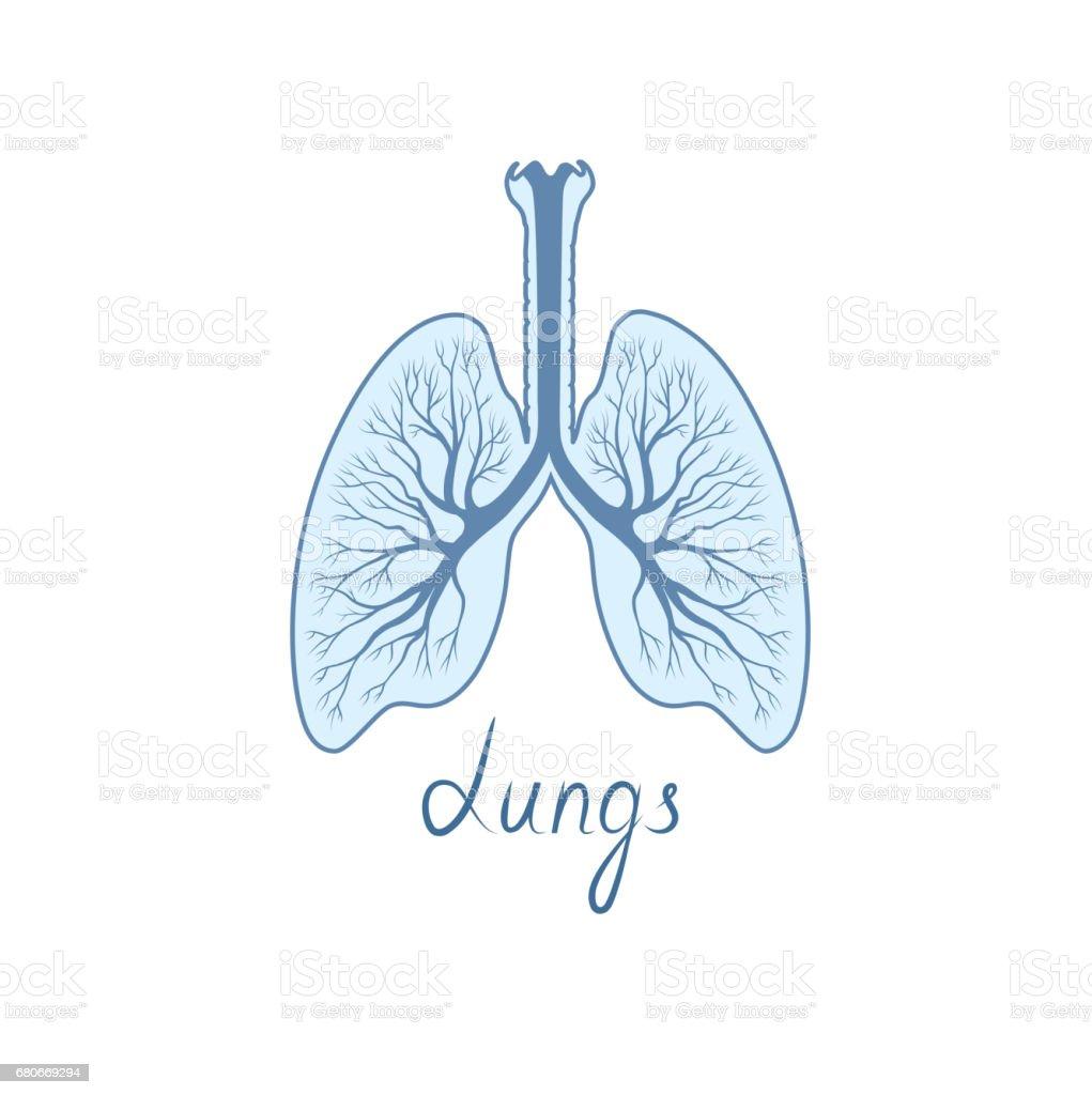 Lungen Zu Unterzeichnen Interne Organ Des Menschenanatomiesymbol ...