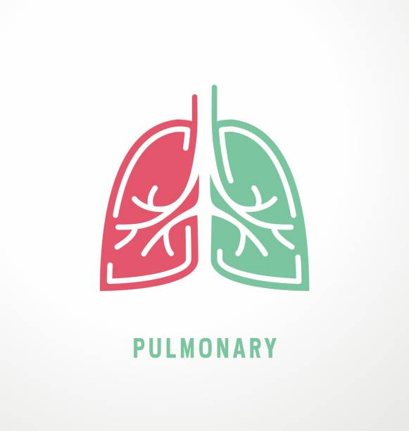 Lungs symbol design Lungs symbol design. Pulmonary icon idea for medical clinic web template lung stock illustrations