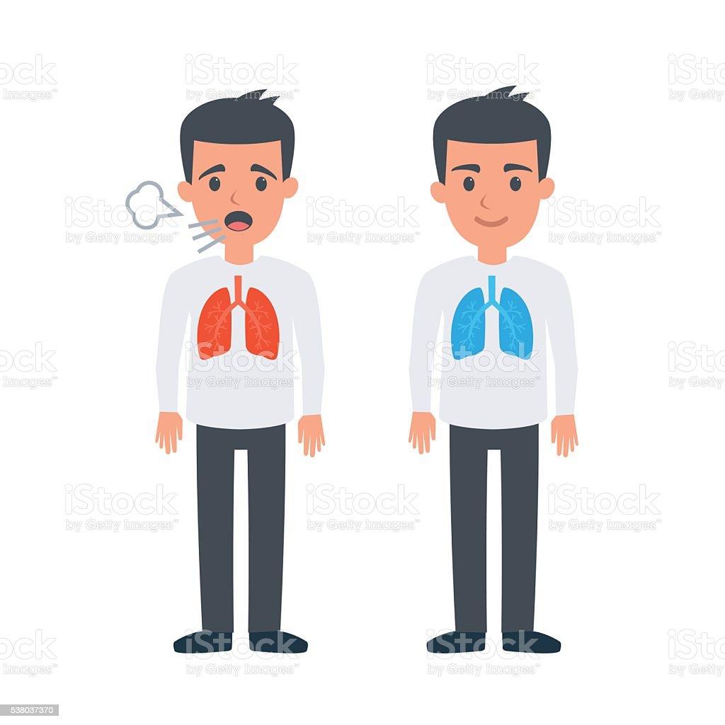 Lungs vector art illustration