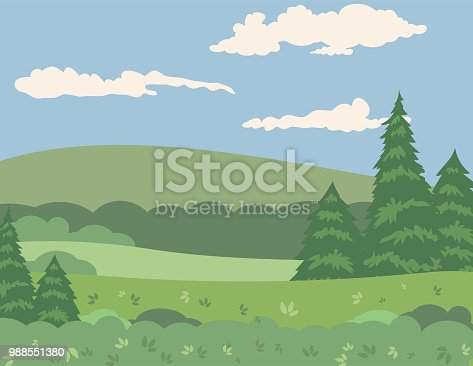 Lovely green landscape in the mountains.
