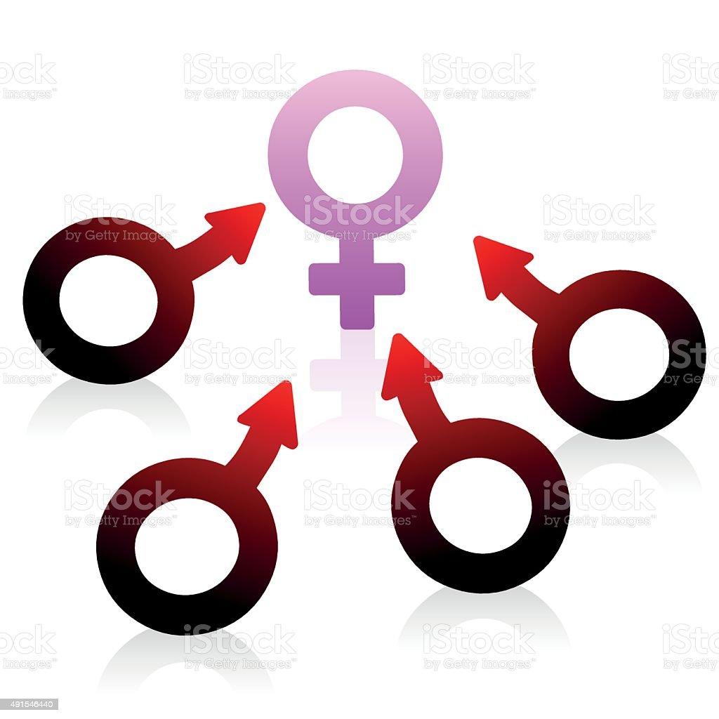 Lust Desire Male Female Symbol Stock Vector Art More Images Of