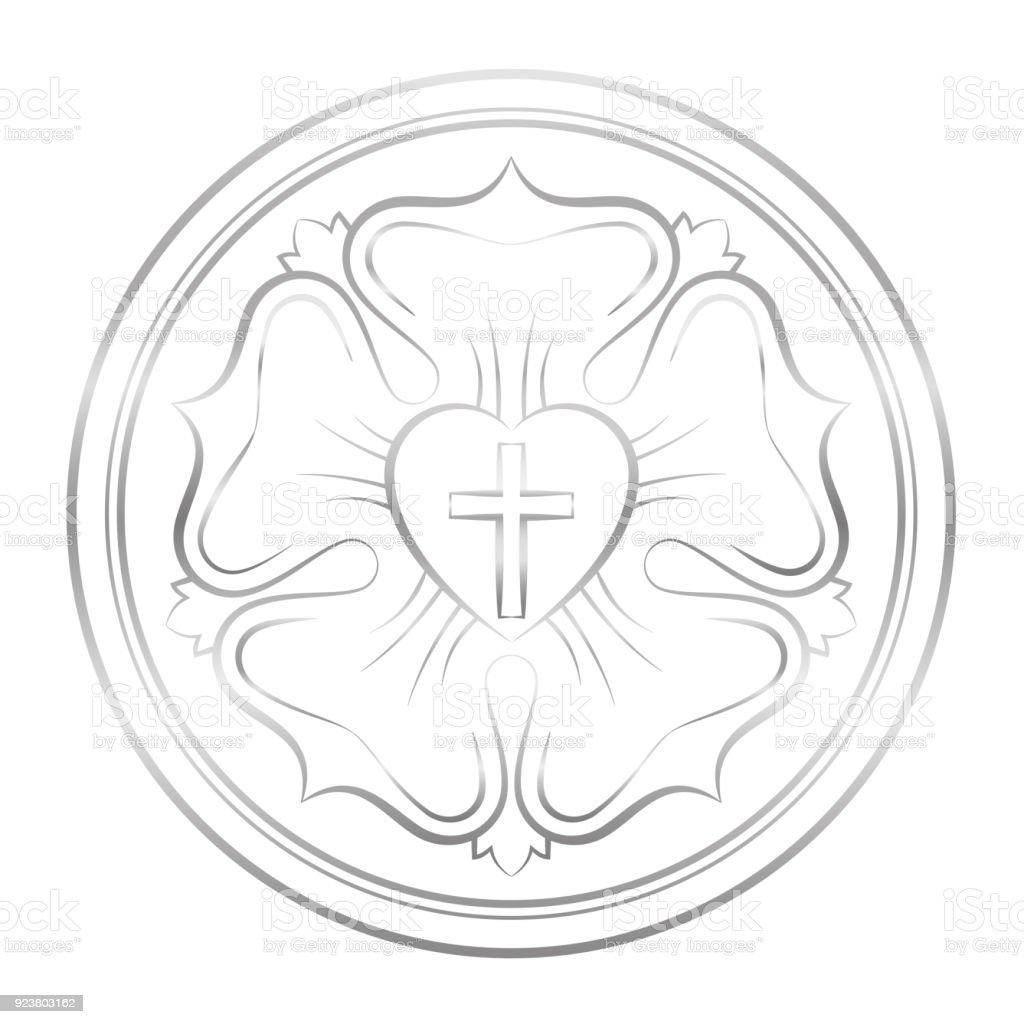 Luthersymbol Symbol Für Das Luthertum Und Protestanten Bestehend Aus ...