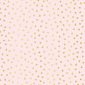 Luxe Rose Gold Love Hearts Sprinkles Texture Pattern, Seamless Vector