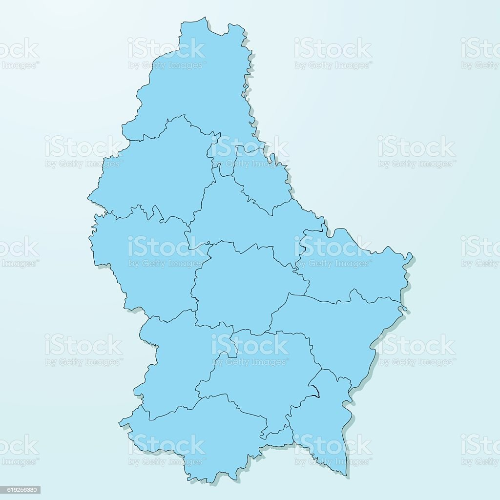 Luxembourg blue map on degraded background vector vector art illustration