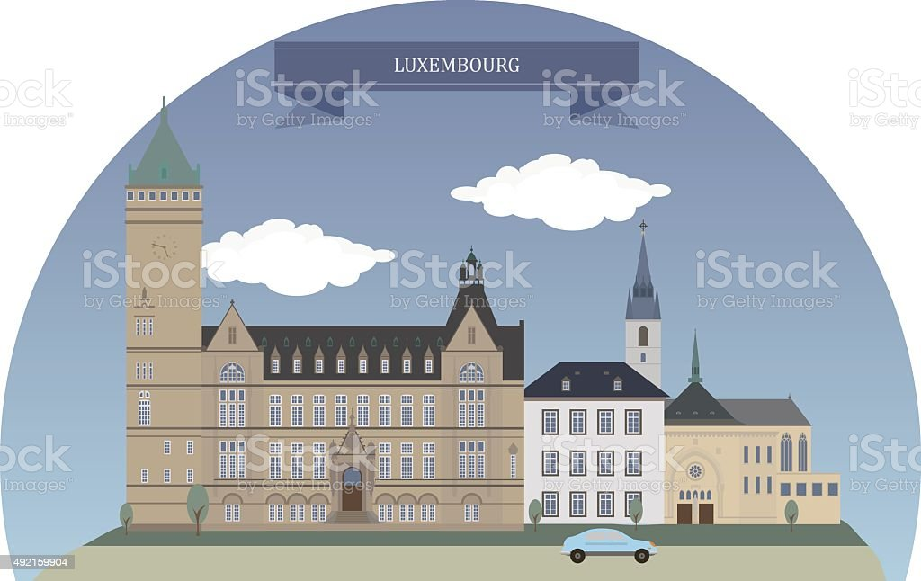 Luxembourg city vector art illustration
