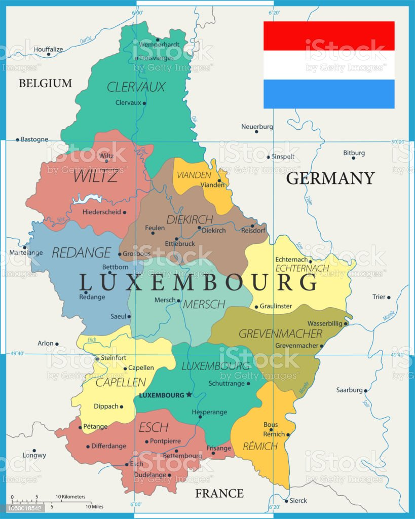 Map Of Germany Luxembourg Belgium.27 Luxembourg Color1 10 Stock Vector Art More Images Of Belgium