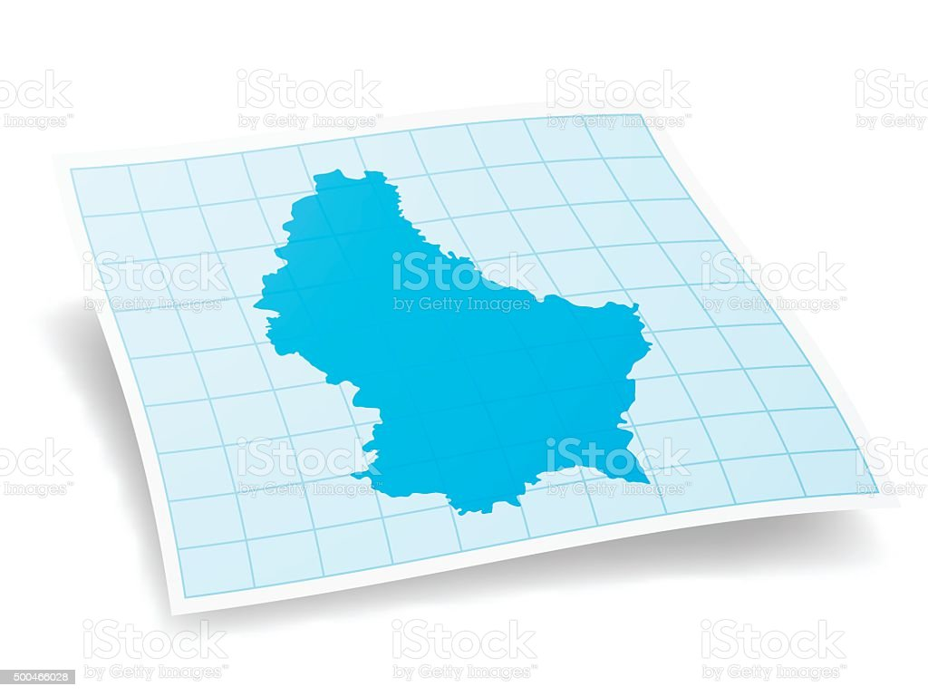 Luxembourg Map isolated on white Background vector art illustration