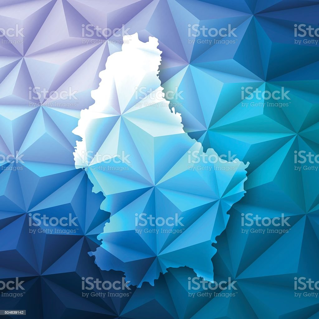 Luxembourg on Abstract Polygonal Background - Low Poly, Geometric vector art illustration