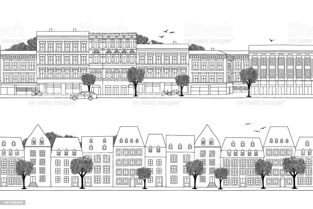 Luxembourg & Oslo style houses banner royalty-free luxembourg oslo style houses banner stock vector art & more images of apartment