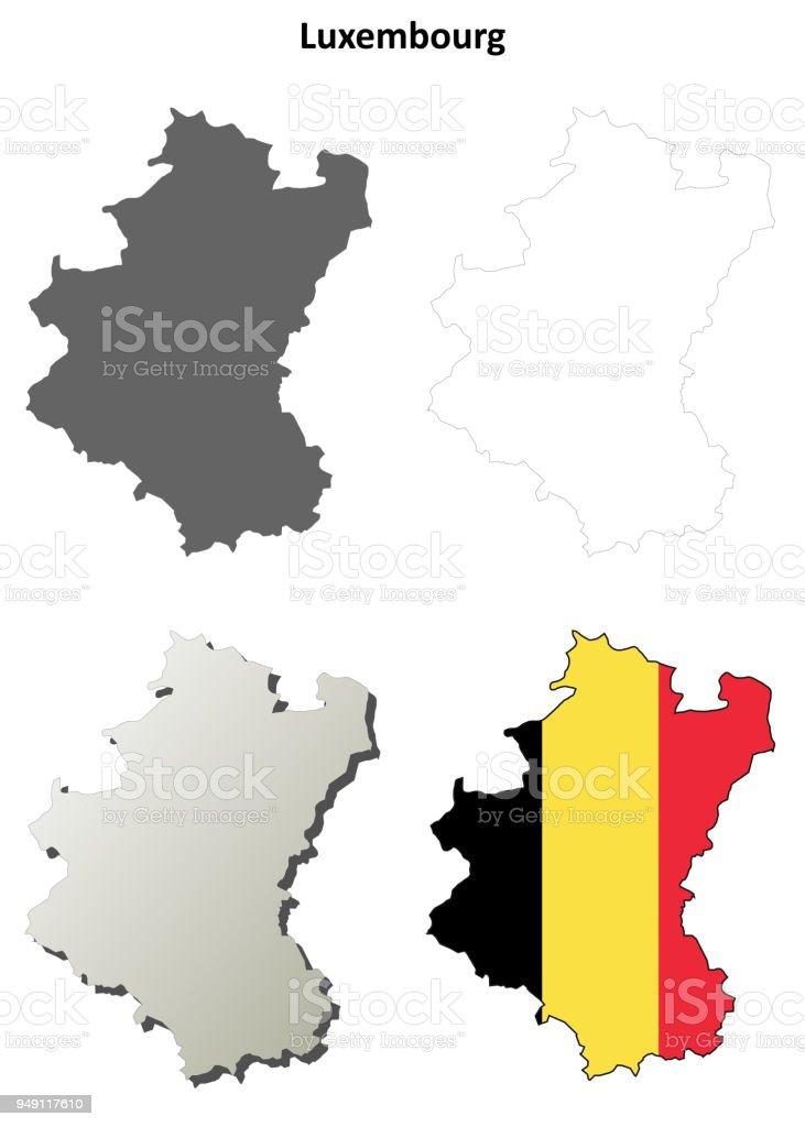Belgien Karte Umriss.Luxemburg Umriss Karte Set Belgische Version Stock Vektor Art Und